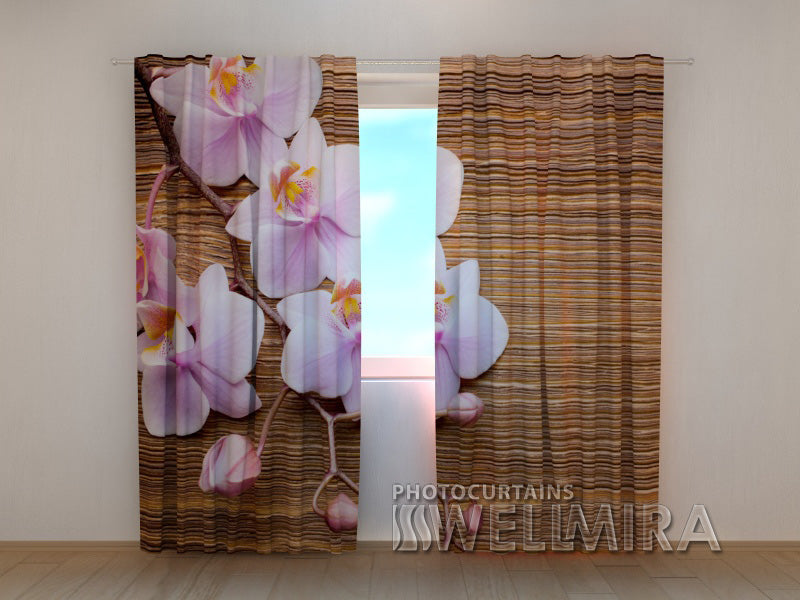 Photocurtain Orchid and Tree - Wellmira