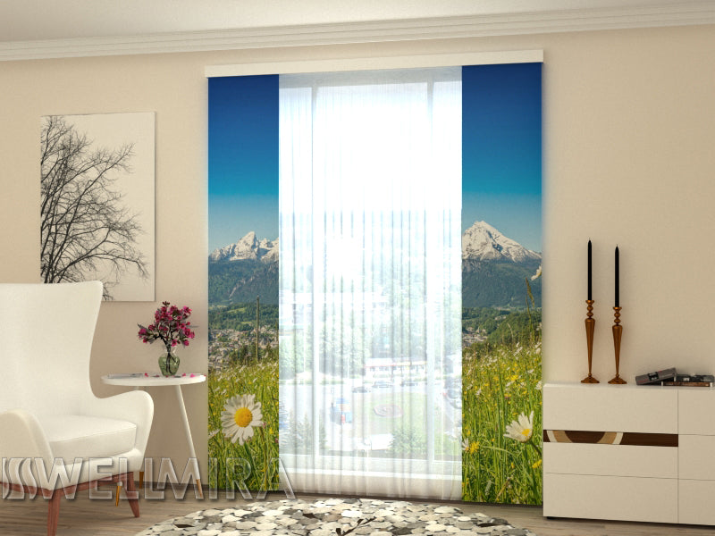Set of 2 Panel Curtains Alps and Camomiles - Wellmira