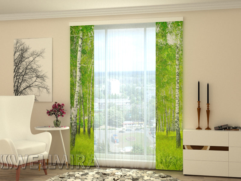 Set of 2 Panel Curtains  Birch Grove - Wellmira