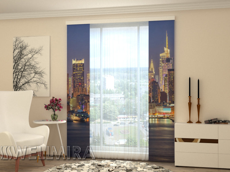 Set of 2 Panel Curtains  Chicago - Wellmira