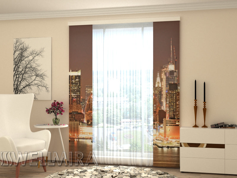 Set of 2 Panel Curtains  Evening Manhattan - Wellmira