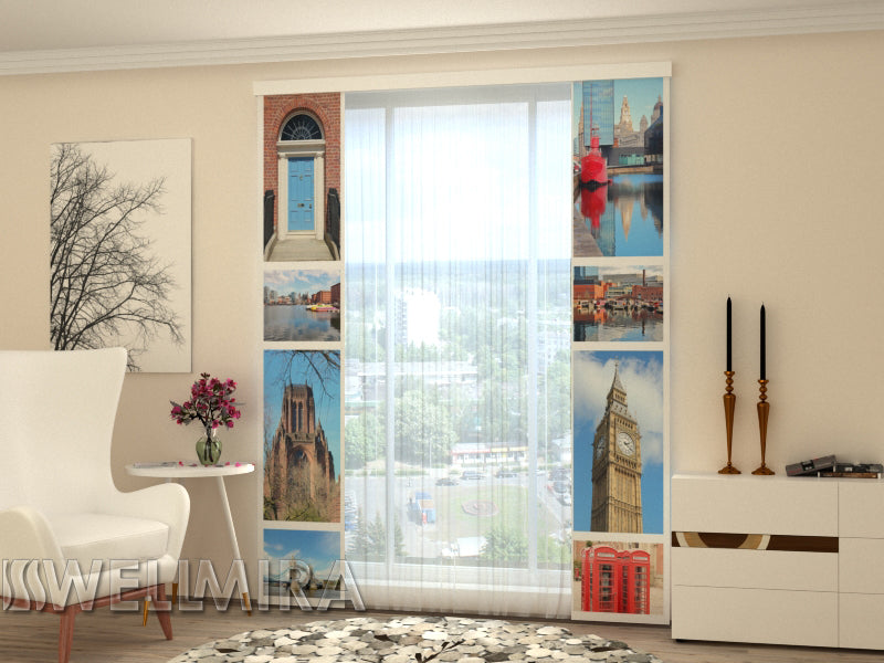 Set of 2 Panel Curtains London Attractions - Wellmira