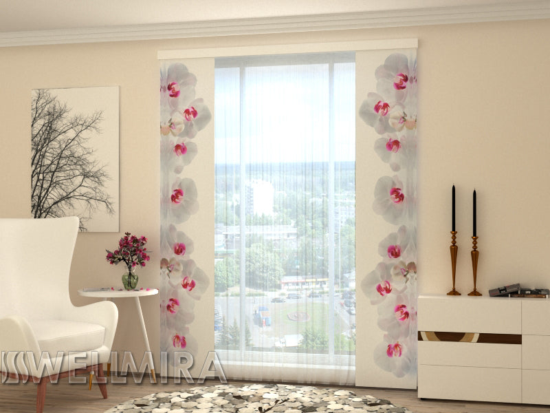 Set of 2 Panel Curtains Music Orchids - Wellmira
