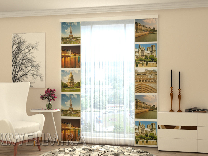 Set of 2 Panel Curtains Paris Kollage - Wellmira