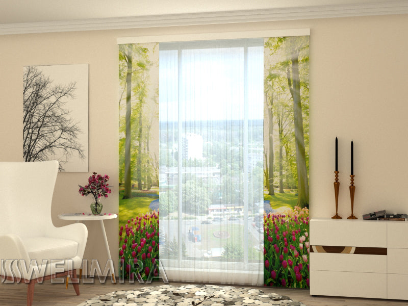 Set of 2 Panel Curtains Park Tulip - Wellmira