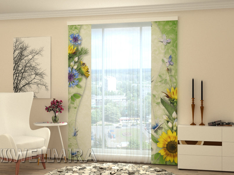 Set of 2 Panel Curtains Spring song - Wellmira