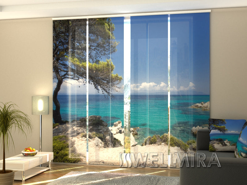 Set of 4 Panel Curtains Awesome Greece - Wellmira