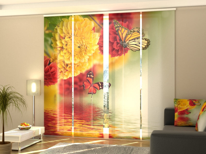 Set of 4 Panel Curtains Beautiful Fall - Wellmira