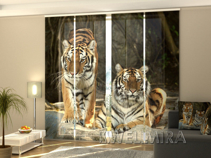 Set of 4 Panel Curtains Charisma - Wellmira