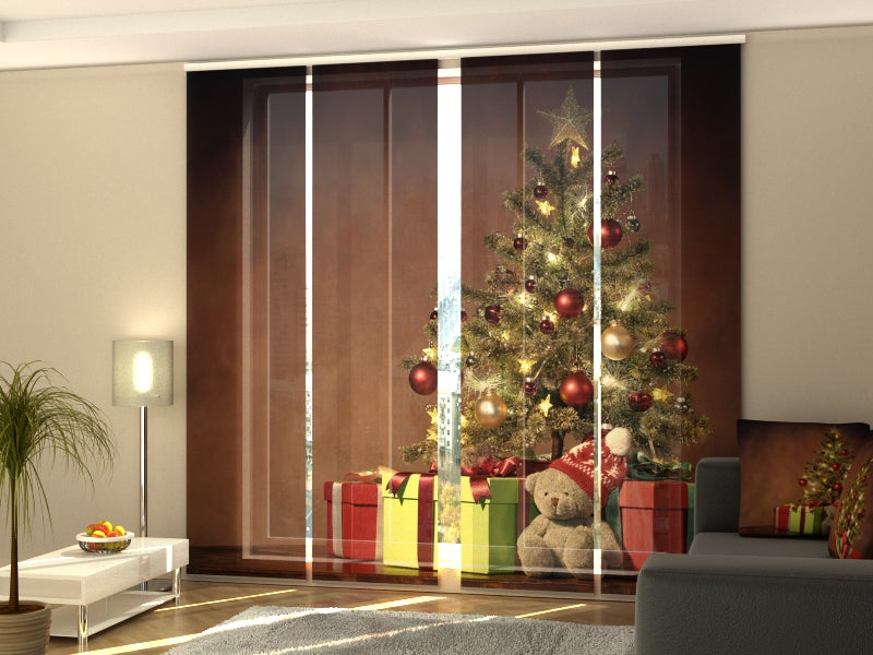 Set of 4 Panel Curtains Christmas Surprise 2