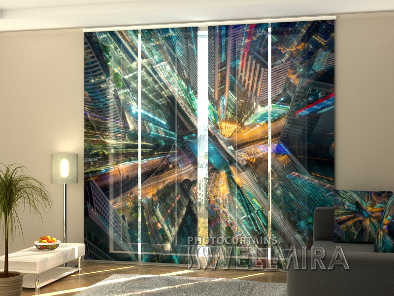 Set of 4 Panel Curtains City of Art - Wellmira