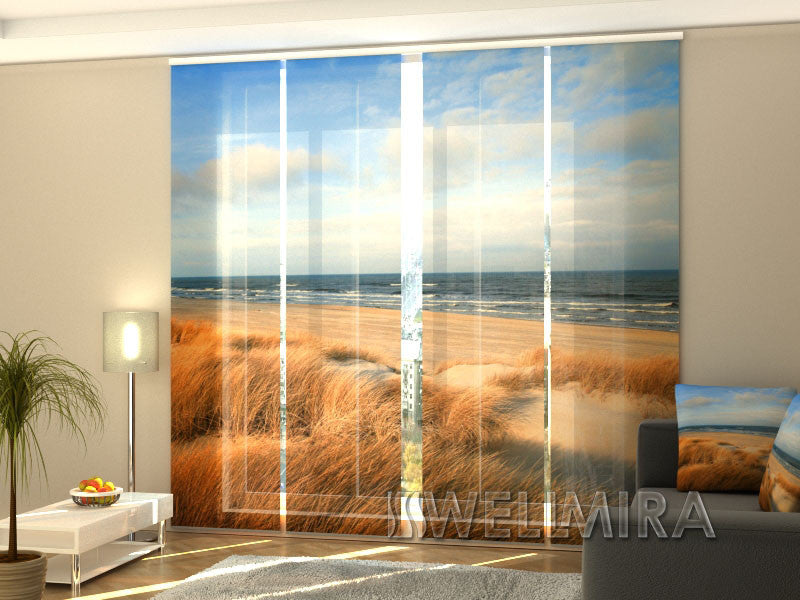 Set of 4 Panel Curtains Dunes at the Baltic Sea - Wellmira