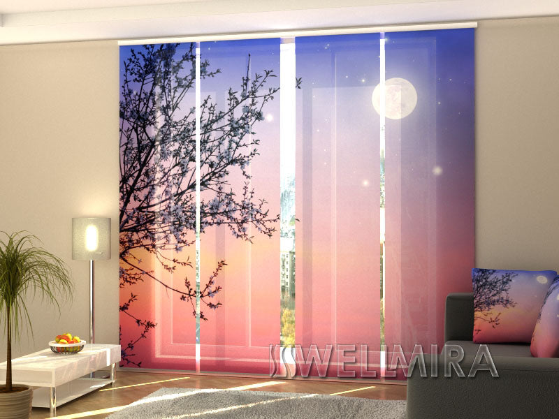 Set of 4 Panel Curtains Early morning - Wellmira
