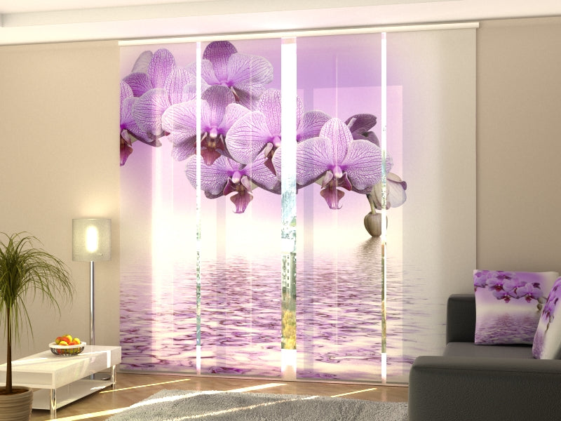 Set of 4 Panel Curtains Lilac Beauty - Wellmira
