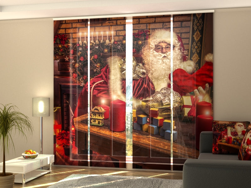 Set of 4 Panel Curtains New Year's Night