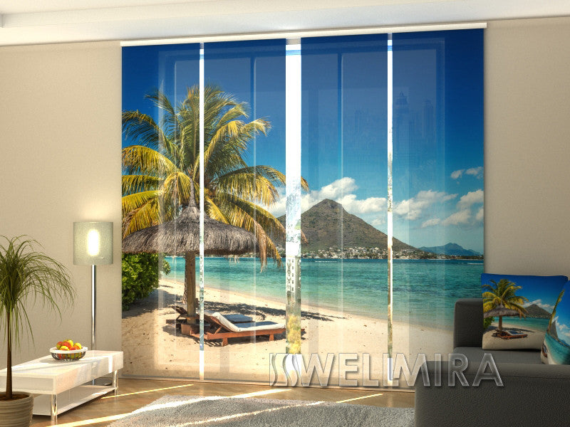 Set of 4 Panel Curtains Riviera - Wellmira