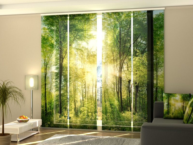 Set of 4 Panel Curtains Sun Rays