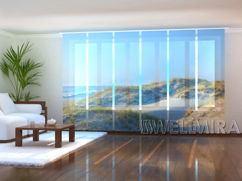Set of 6 Panel Curtains  Sand dunes in morning light