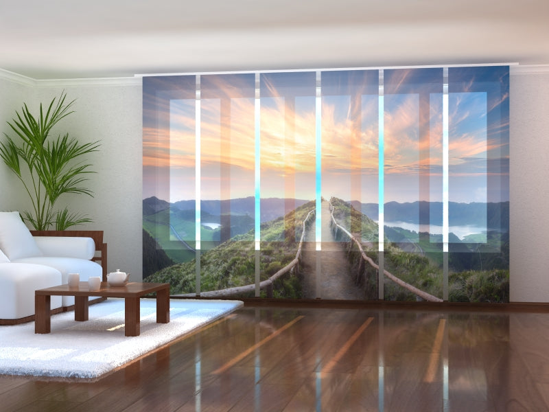 Set of 6 Panel Curtains Sao Miguel Island in Portugal