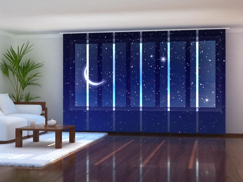 Set of 6 Panel Curtains Starry Sky - Wellmira