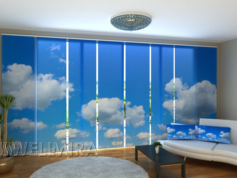 Set of 8 Panel Curtains Above the Clouds - Wellmira