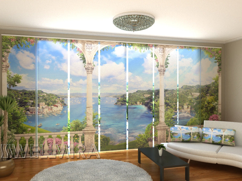 Set of 8 Panel Curtains Awesome Croatia - Wellmira