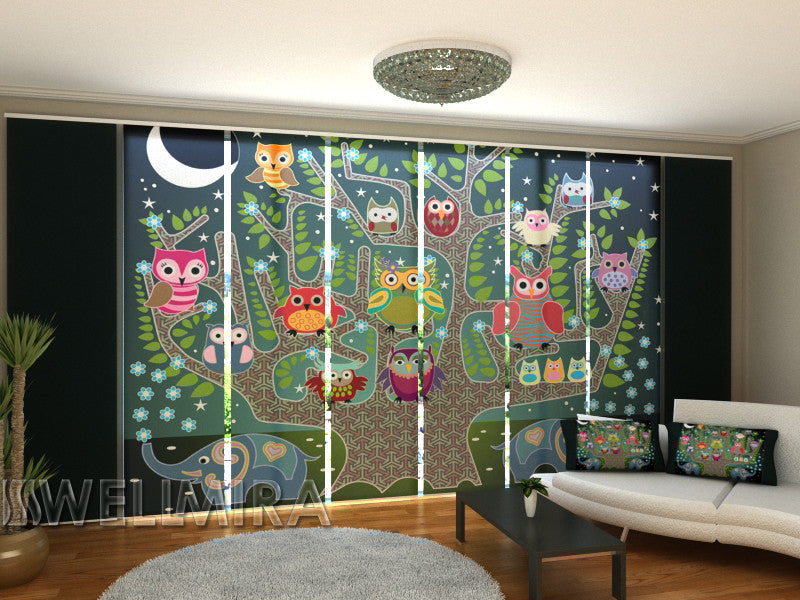 Set of 8 Panel Curtains Bedtime Story - Wellmira