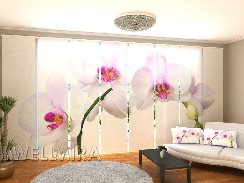Set of 8 Panel Curtains White Song - Wellmira