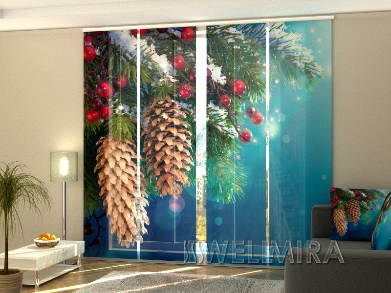 Set of 4 Panel Curtains Cones - Wellmira