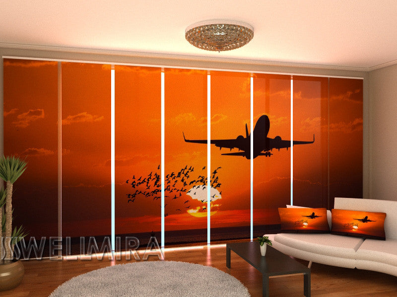 Set of 8 Panel Curtains Flight - Wellmira