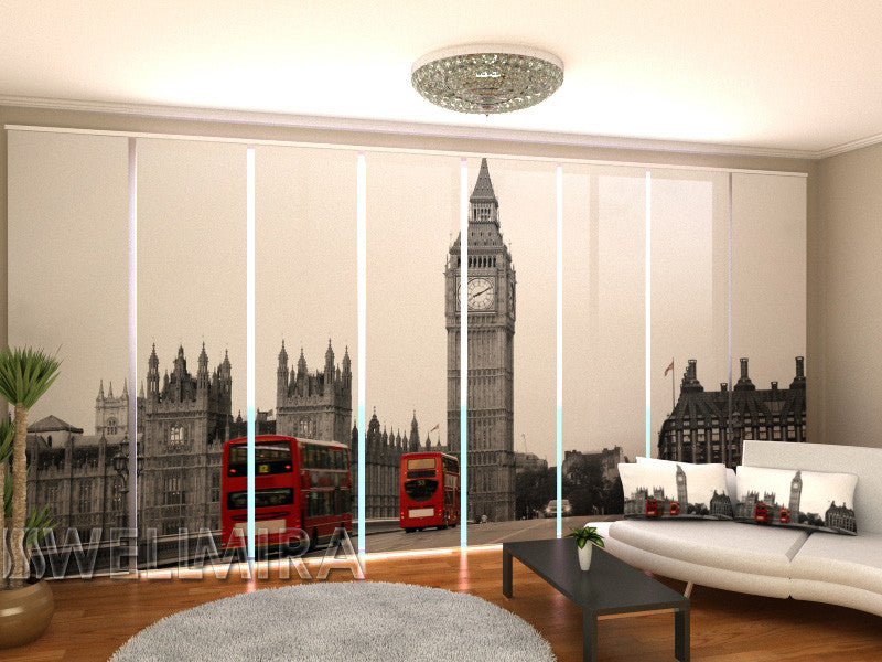 Set of 8 Panel Curtains Just London - Wellmira