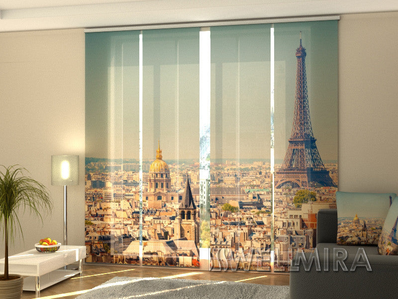 Set of 4 Panel Curtains Morning in Paris - Wellmira