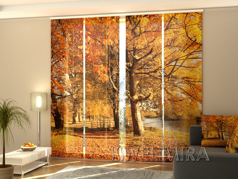 Set of 4 Panel Curtains November Park - Wellmira