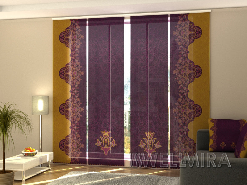 Set of 4 Panel Curtains Patterns - Wellmira