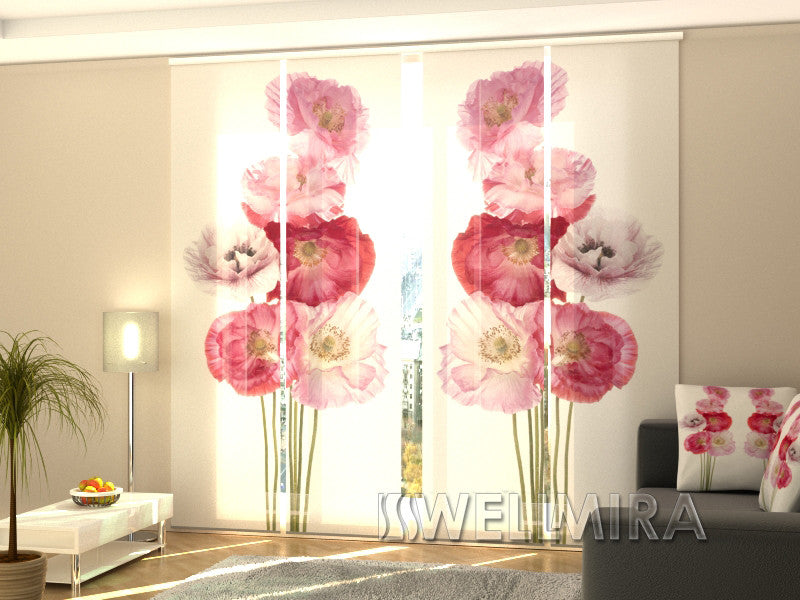 Set of 4 Panel Curtains Scarlet Song - Wellmira
