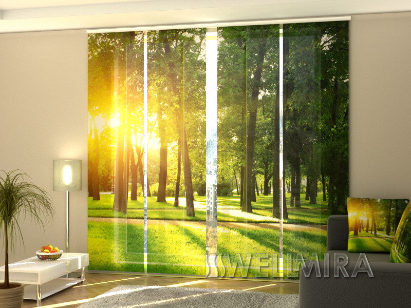 Set of 4 Panel Curtains Spring Park - Wellmira
