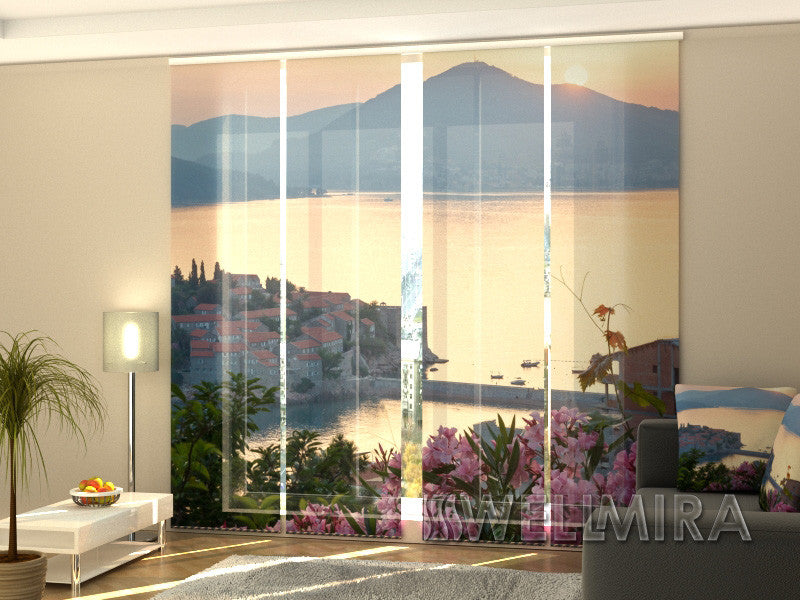 Set of 4 Panel Curtains Sunrise - Wellmira