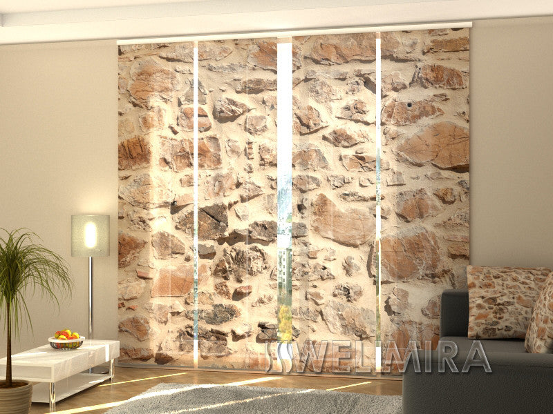 Set of 4 Panel Curtains Wall - Wellmira