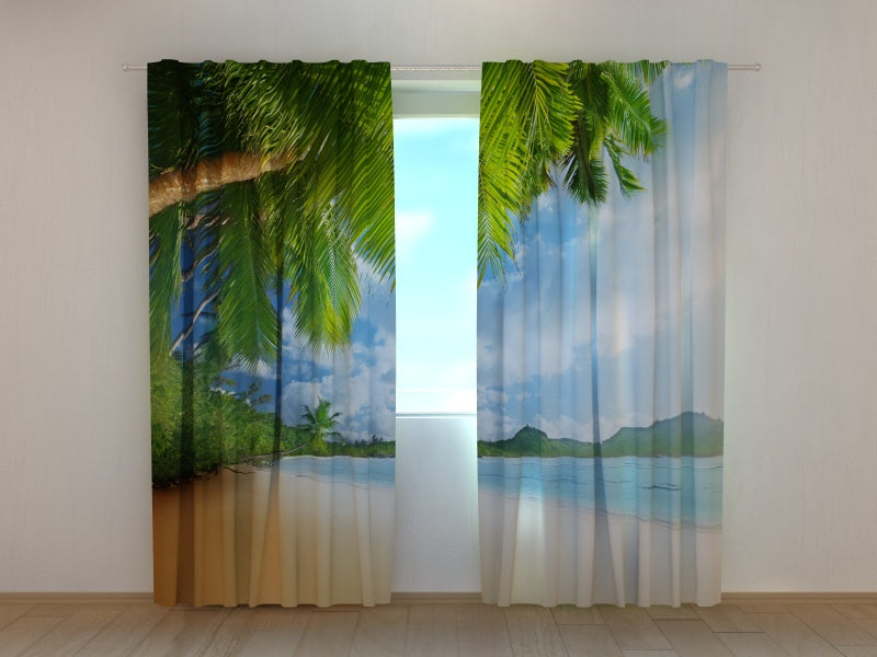 Photo Curtain Palm Trees and the Mountains