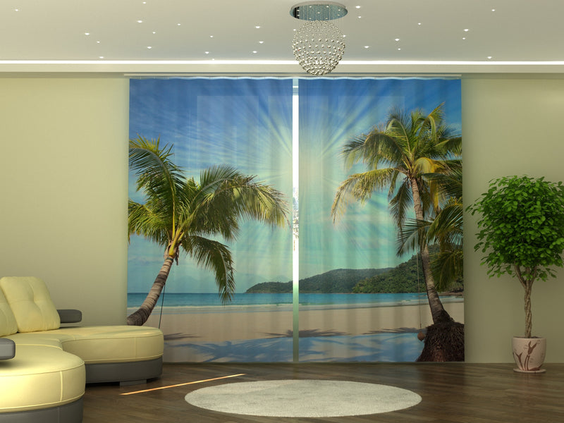 Photo-curtain Palm Trees W290xH250 cm - Wellmira