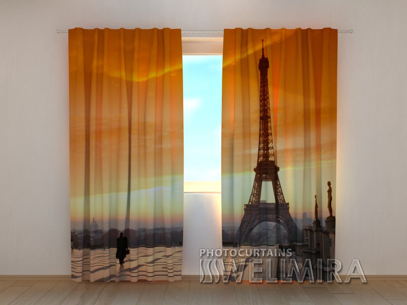 Photo Curtain Paris and Tower - Wellmira