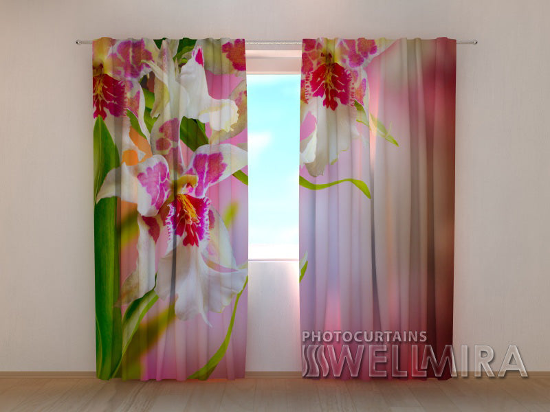 Photocurtain Mottle Orchids - Wellmira