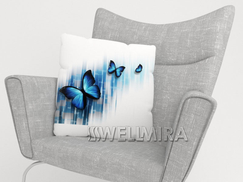 Pillowcase Blue Butterflies - Wellmira