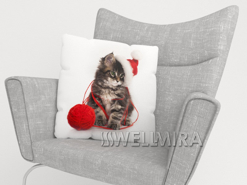 Pillowcase Christmas Cat - Wellmira