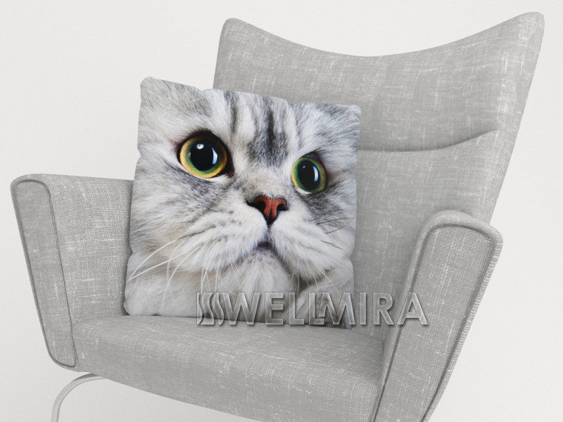 Pillowcase Gray Cat - Wellmira