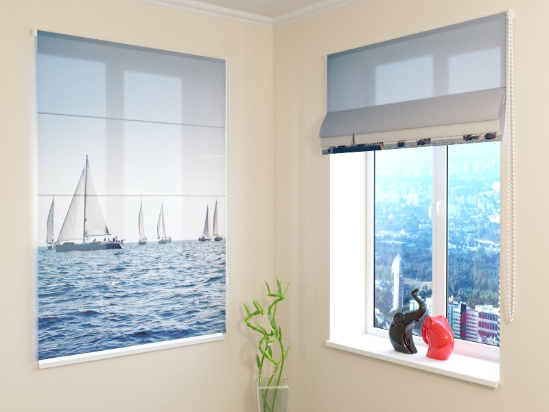 Roman Blind Sea and Sailboats
