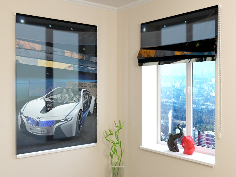 Roman Blind White Supercar