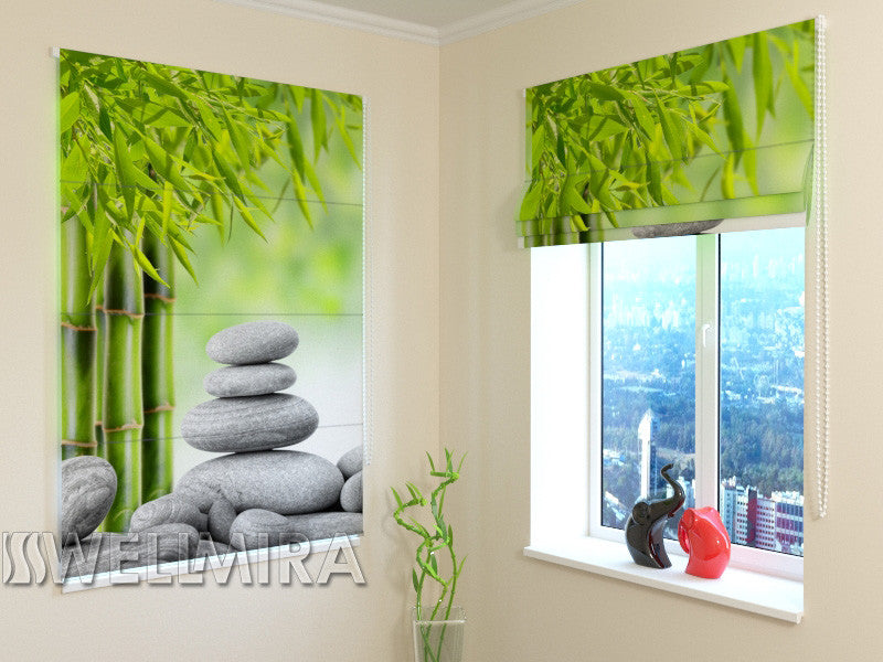 Roman Blind Bamboo and Stones 2 - Wellmira