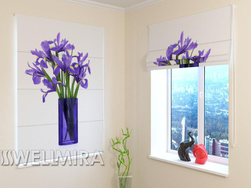 Roman Blind Bouquet of Irises - Wellmira