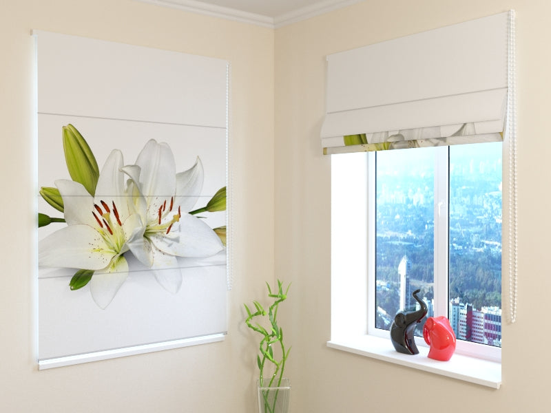 Roman Blind Crystal Lily